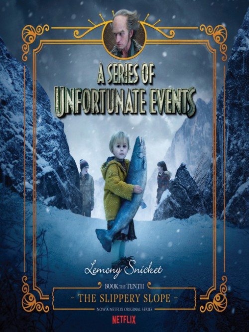 A Series of Unfortunate Events Book 10: The Slippery Slope Cover