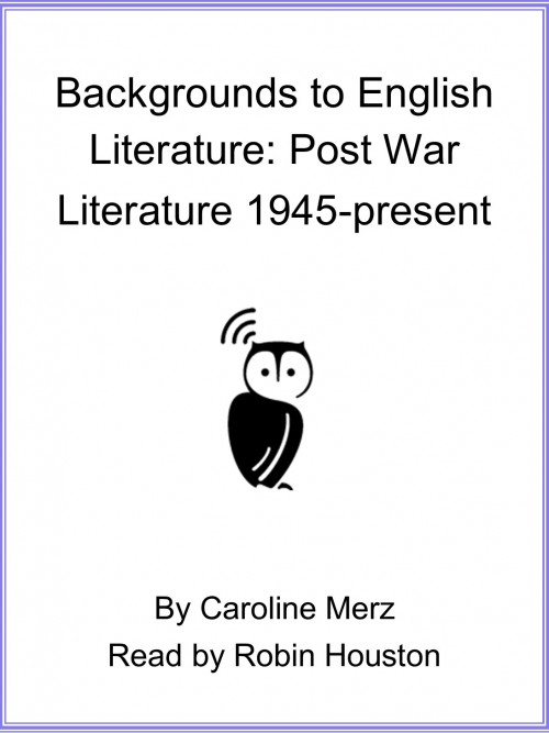 Backgrounds To English Literature: Post War Literature 1945-present Cover