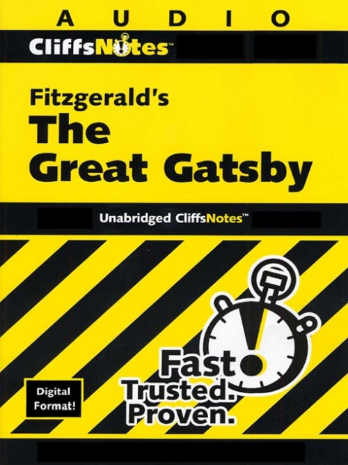 Cliffsnotes: Fitzgerald's the Great Gatsby Cover