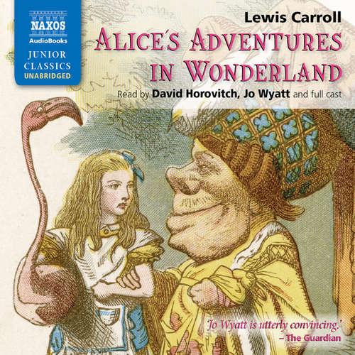 The audiobook cover of Alice's Adventures in Wonderland