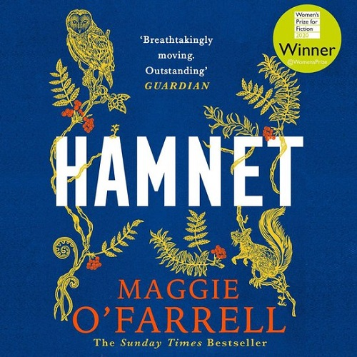 The audiobook cover of Hamnet