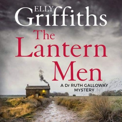 The audiobook cover of The Lantern Men