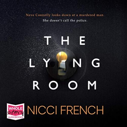 The audiobook cover of The Lying Room