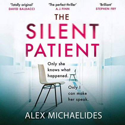 The audiobook cover of The Silent Patient