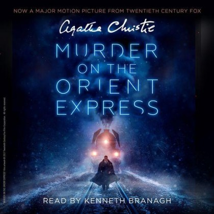 The audiobook cover of Murder on the Orient Express