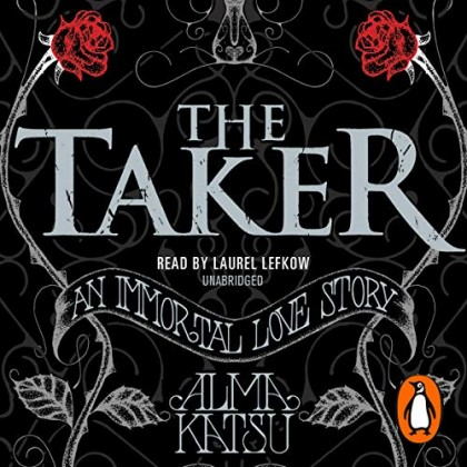 The audiobook cover of The Taker